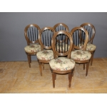 Suite Of Six Louis XVI Chairs In Walnut Late XVIII