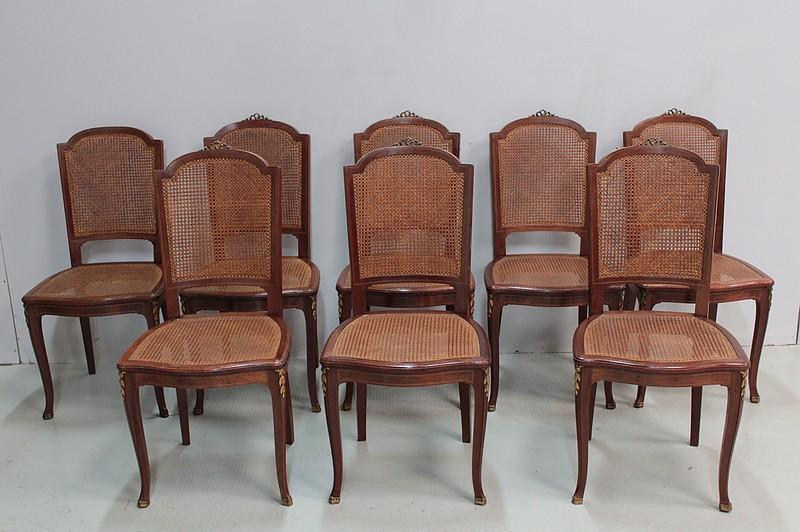 Sedie Stile Francese : Sedie di stile della transizione francese antiquites lecomte