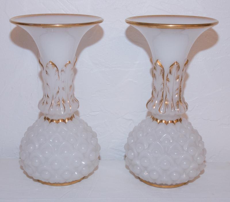 Coppia di vasi opaline galerie lauretta for Vasi baccarat