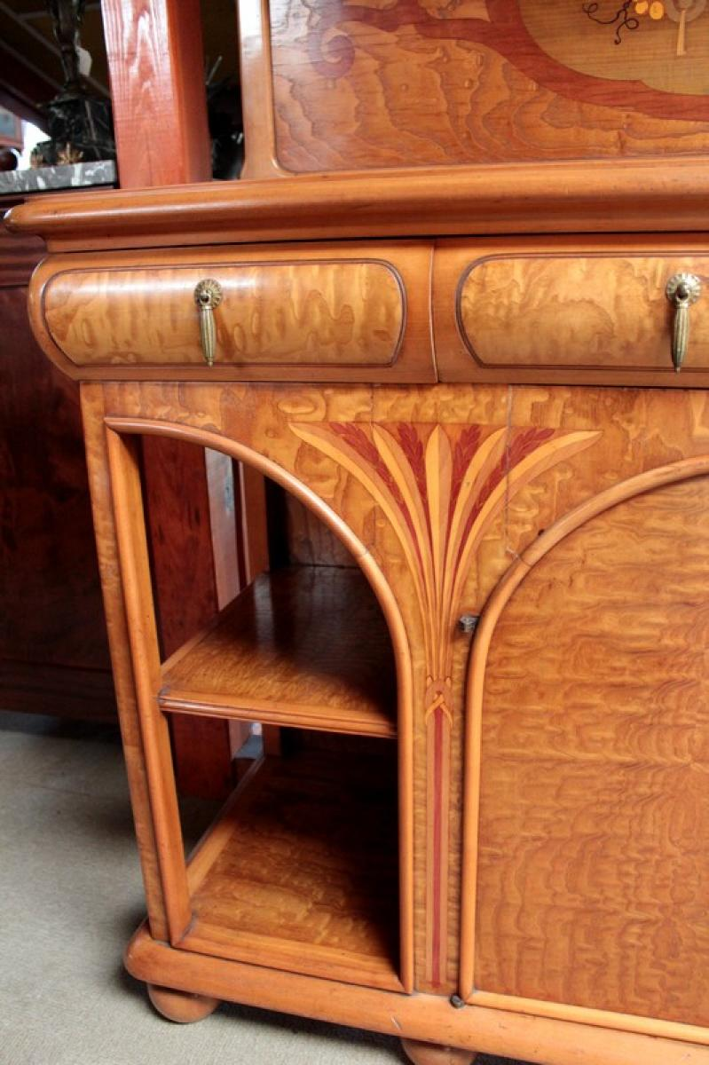 Chiffonier periodo di arte nouveau antiquites lecomte - Art nouveau mobili ...