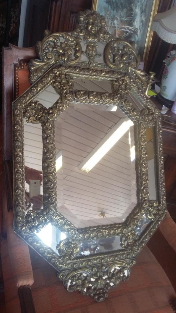 Large Napoleon III Mirror A Pareclose XIX