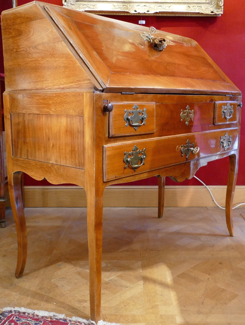 Office Slope Malouin Mahogany 18Th Century