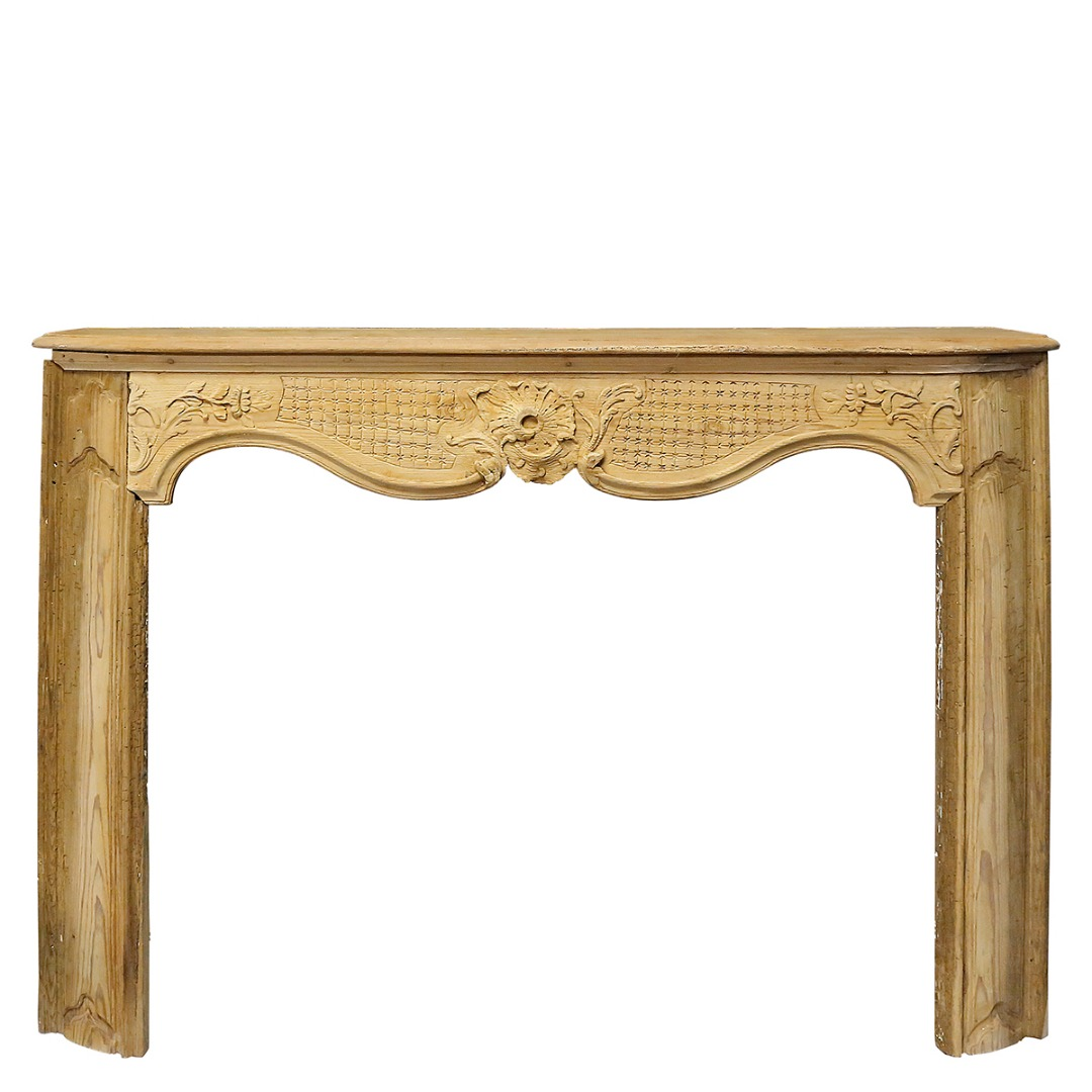 A 18th century fireplace mantel