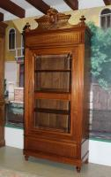 GLAZED CUPBOARD IN MAHOGANY