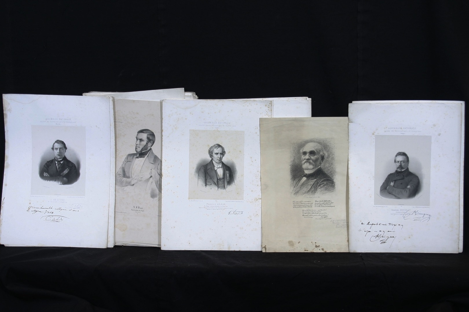 """members Of The Provisional Government"" + 64 Litho National Assembly 1848"