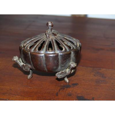 Petit Brule Perfume China Japan Asia Bronze Early XIX Eme Circa 19 Eme Chinese Pot Pourri