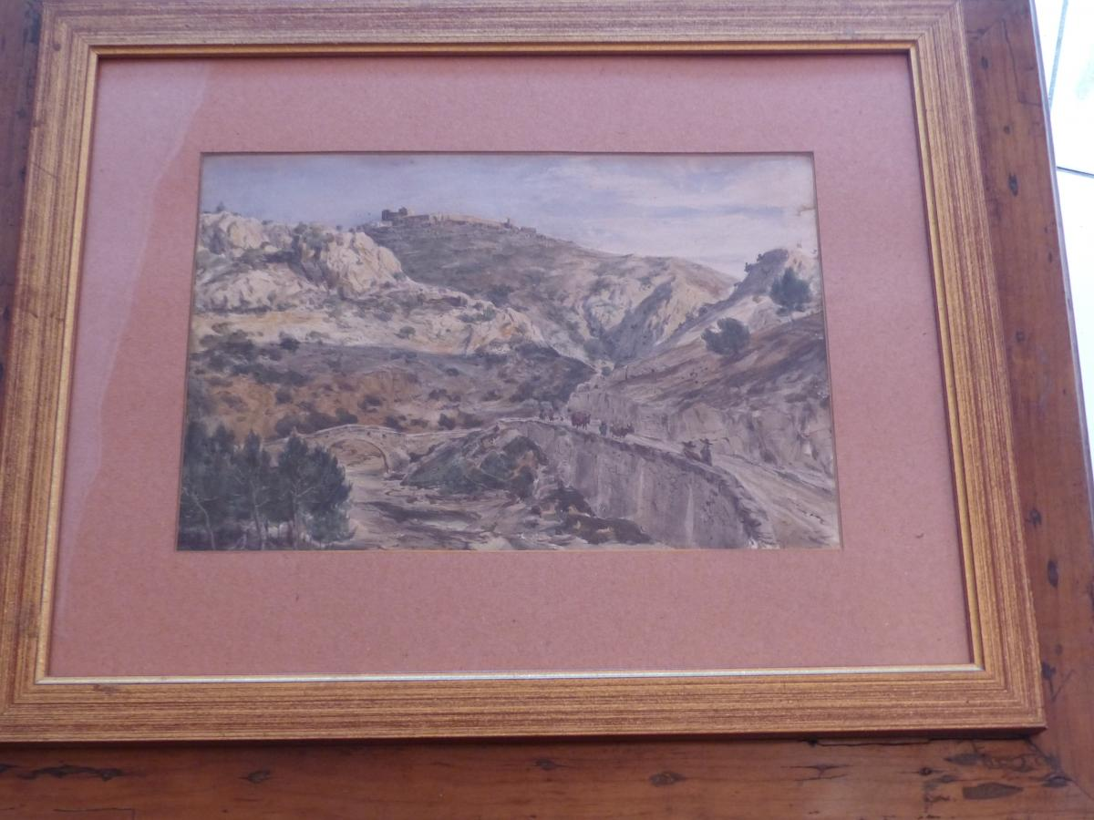 Watercolor Circa XIX Pierre Francois Lehoux Sign Collection C De Jonge