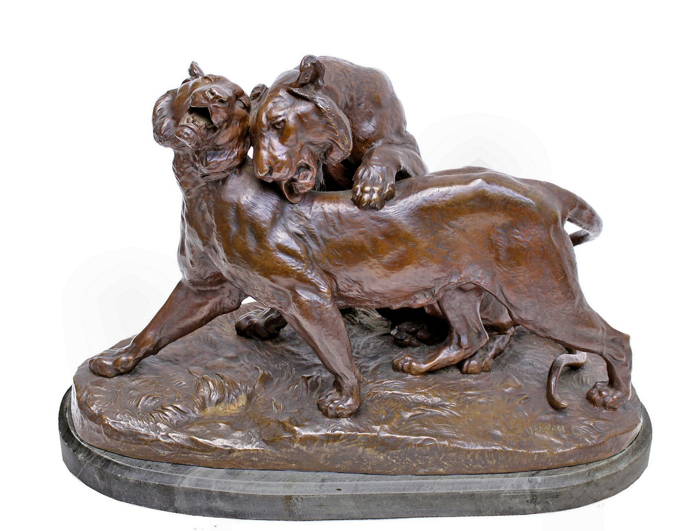 BRONZE GROUP di Charles Valton (1851-1918)