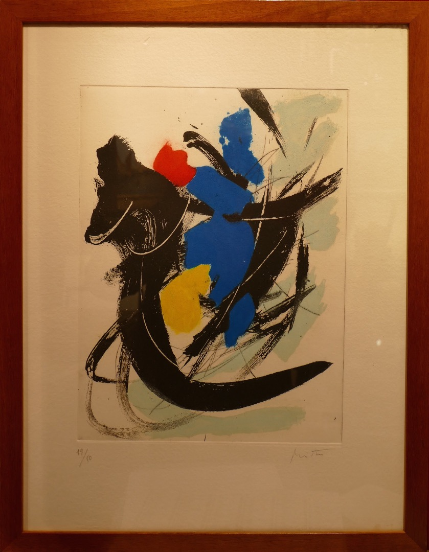 Jean MIOTTE Composition Color etching signed and numbered