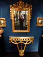 GILTWOOD MIRROR AND CONSOLE TABLE