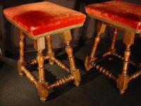 Pair of French 17th C. Louis XIII Stools