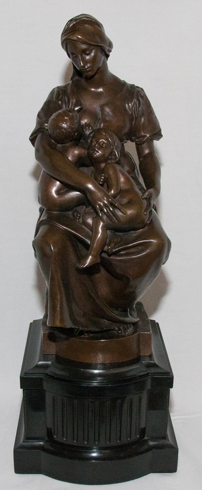 SCULTURA IN BRONZO di PAUL DUBOIS (1829-1905)