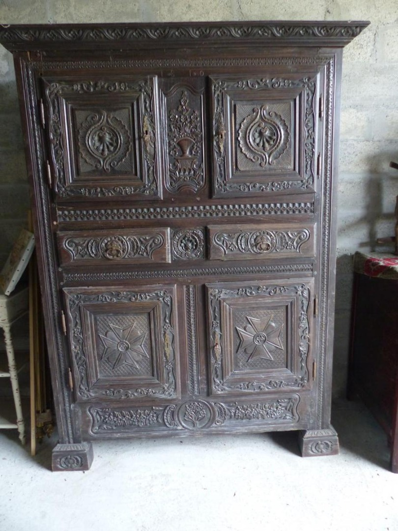 BUFFET CABINET 4 FOUR DOORS XVII EME EMPIRE NAPOLEON 1er