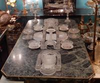 1900 'Centerpiece Table Molded Crystal Baccarat Model Bamboo 31 Pieces