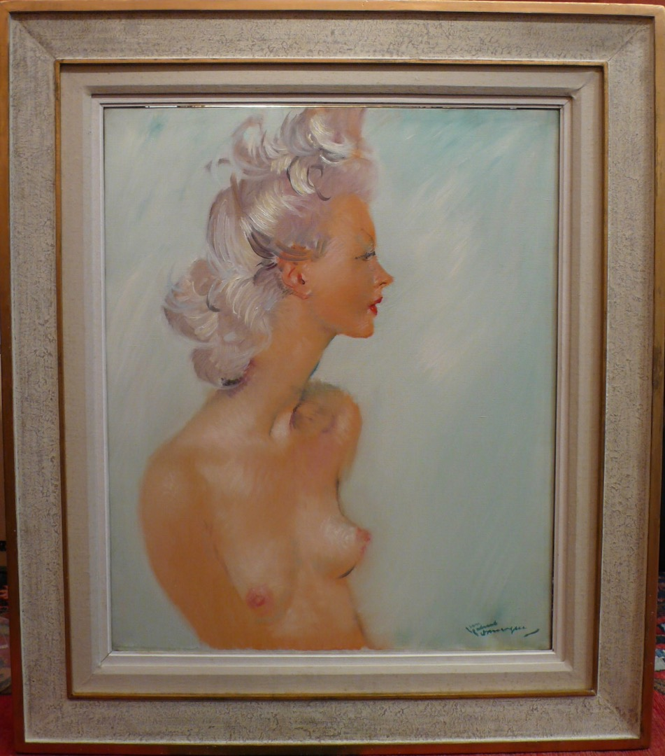 DOMERGUE Jean Gabriel The beautiful Swedish Painting XXTh Century Mondaine Painting Oil on canvas signed