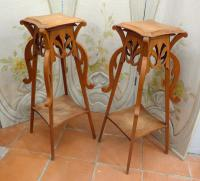 PAIR OF ART NOUVEAU PERIOD STANDS