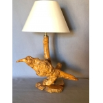 "WOODEN LAMP ""BIRD"""