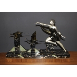Important Art Deco Period Sculpture The Woman With The Storks