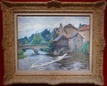PAILLER Henri French Painting 20th Century Crozant School The Mill In The Creuse Oil Signed
