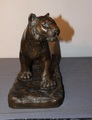 Lioness In Terracotta With Copper Patina Around 1930