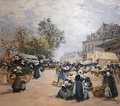LEGOUT GERARD Fernand FRENCH SCHOOL PAINTING LAST XIXTh CENTURY SCENE OF MARKET AT ROSTRENEN IN BRITANY OIL ON CANVAS SIGNED